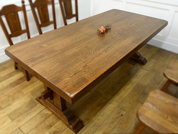 オランダ民芸家具 オーク無垢材 ダイニングテーブル