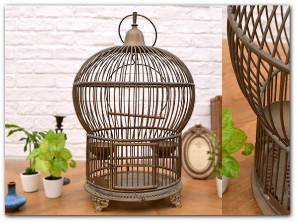 フランスアンティーク 真鍮鳥かご