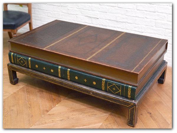 本革本型 ローテーブル