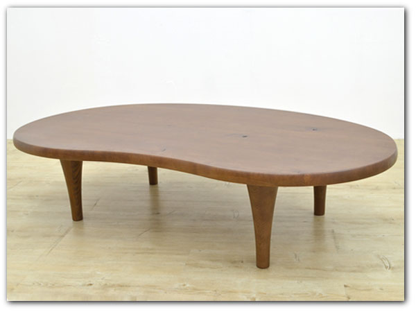 森のことば ビーンズ型リビングテーブル