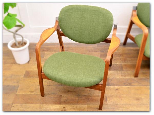 長大作 年代物トリエンナーレ型肘椅子