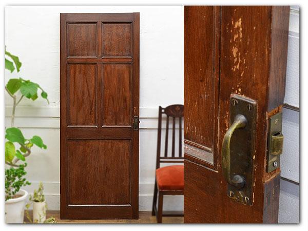古い洋館の木製アンティーク扉