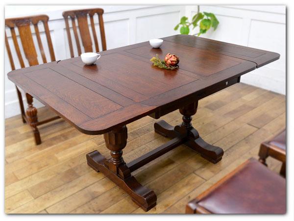 年代物ドローリーフテーブル