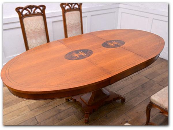 アールヌーボー様式 エクステンションテーブル