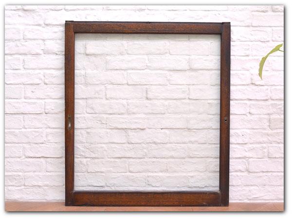 年代物 揺れガラス戸木製