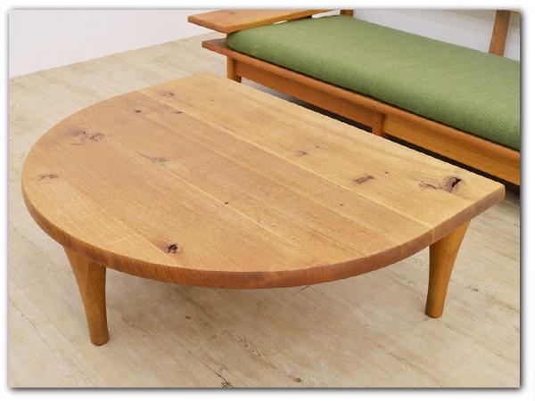 森のことば 半円形リビングテーブルW1030