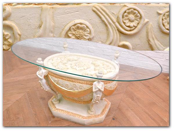 ロココ様式 ガラステーブル