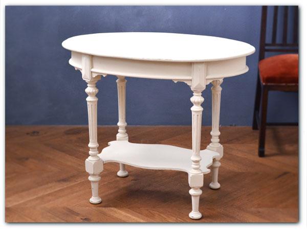 アンティーク リメイクペイント サイドテーブル