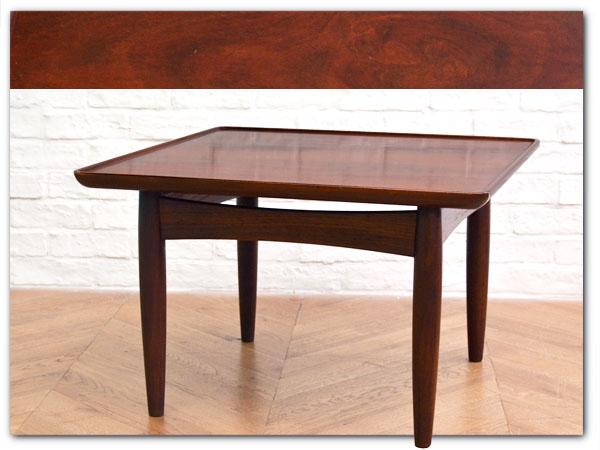 ヴィンテージ北欧スタイルローズウッドサイドテーブル