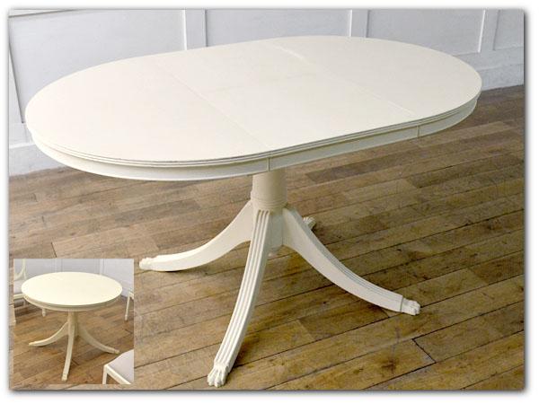 リメイクペイント伸長式ラウンドテーブル