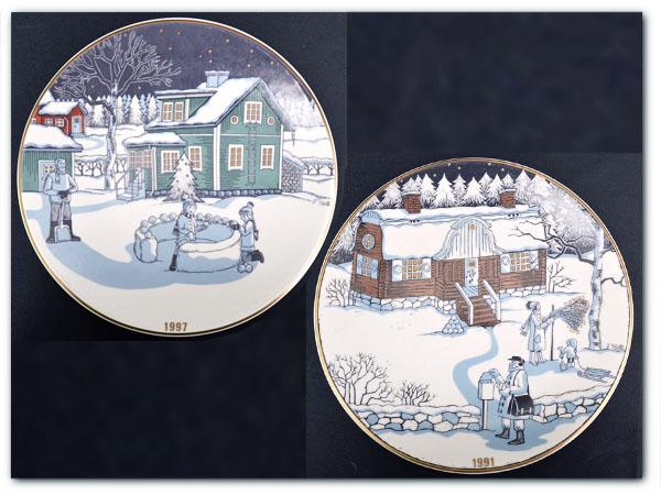 ヴィンテージ クリスマスプレート 1991年,1997年