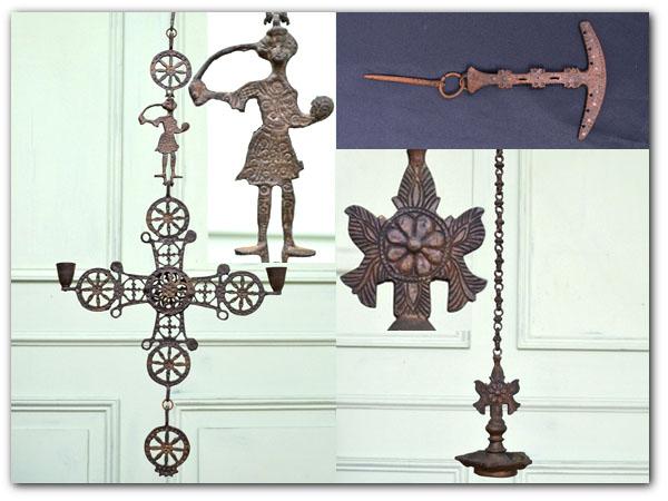 古い鋳物吊り下げ装飾灰皿