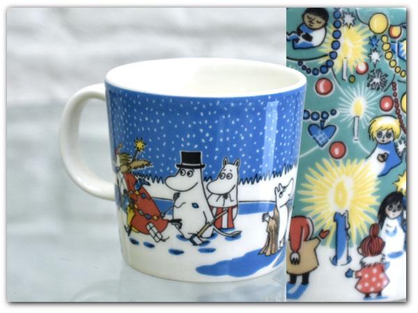 希少 ARABIA 2004-2005クリスマス ムーミン マグカップ