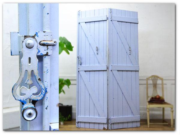 ペンキ塗装 大型木製両開き扉