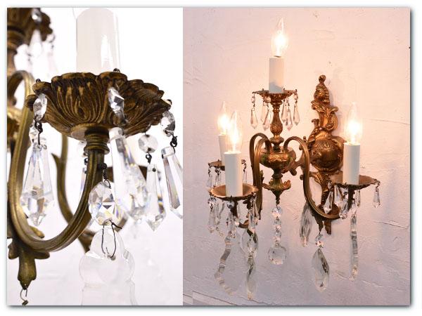 真鍮製 バロック様式 ブラケット ランプ