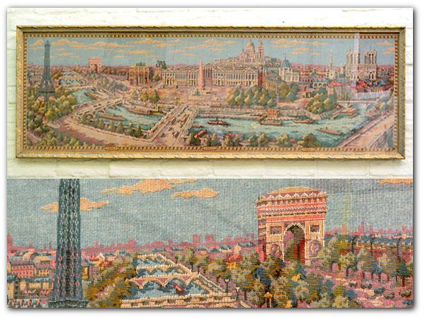 フランス製 ゴブラン織 パリ風景画