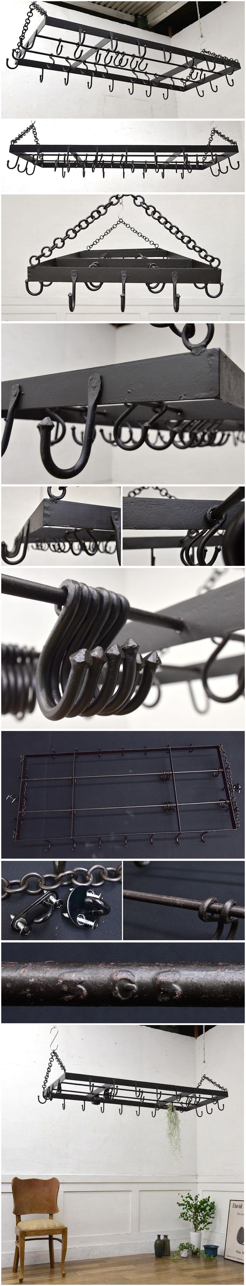 アンティーク 鉄製 ハンギングポットラック