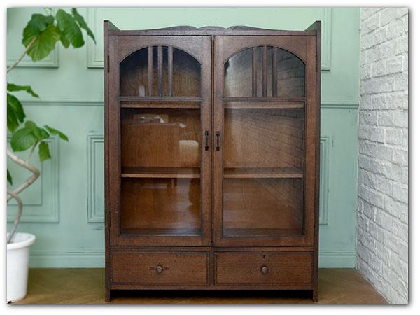 和製アールデコスタイル 年代物木製本棚