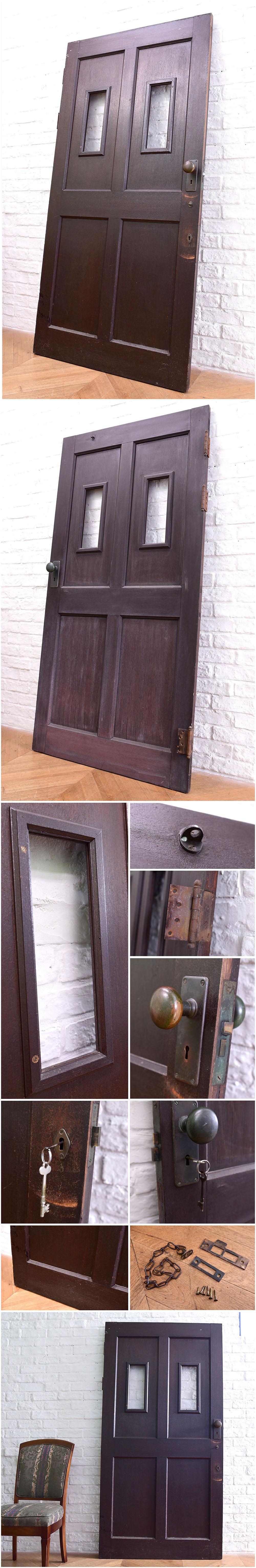 アンティークドア鍵付き