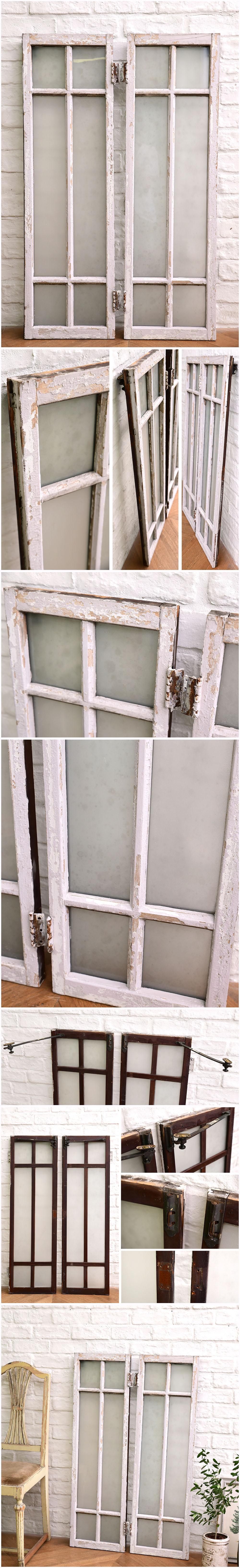 アンティーク 両開き窓