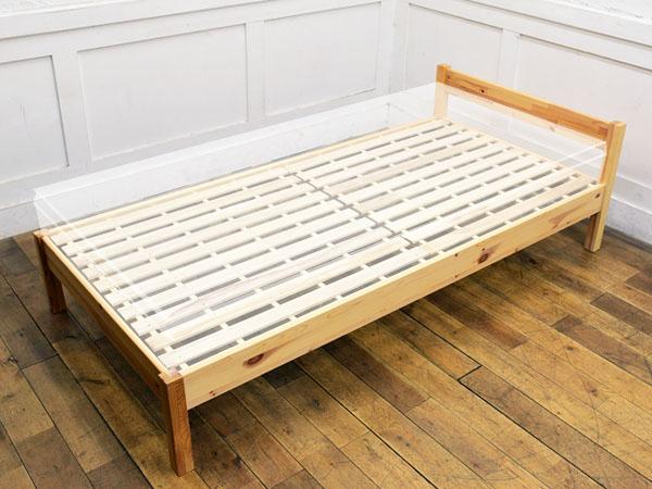 無印 良品 ベッド フレーム 木製ベッドフレーム本体|板と脚でできた木製ベッドフレーム