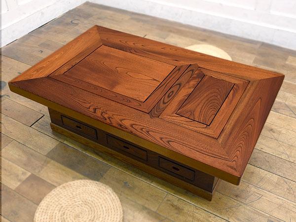 欅材無垢関西火鉢テーブル