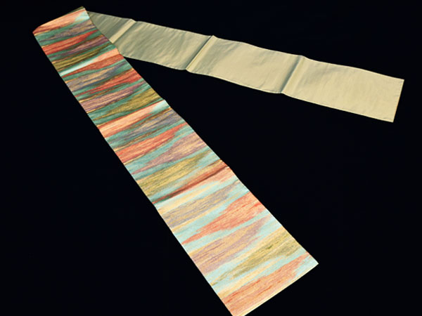 流水紋 つづれ織り 袋帯