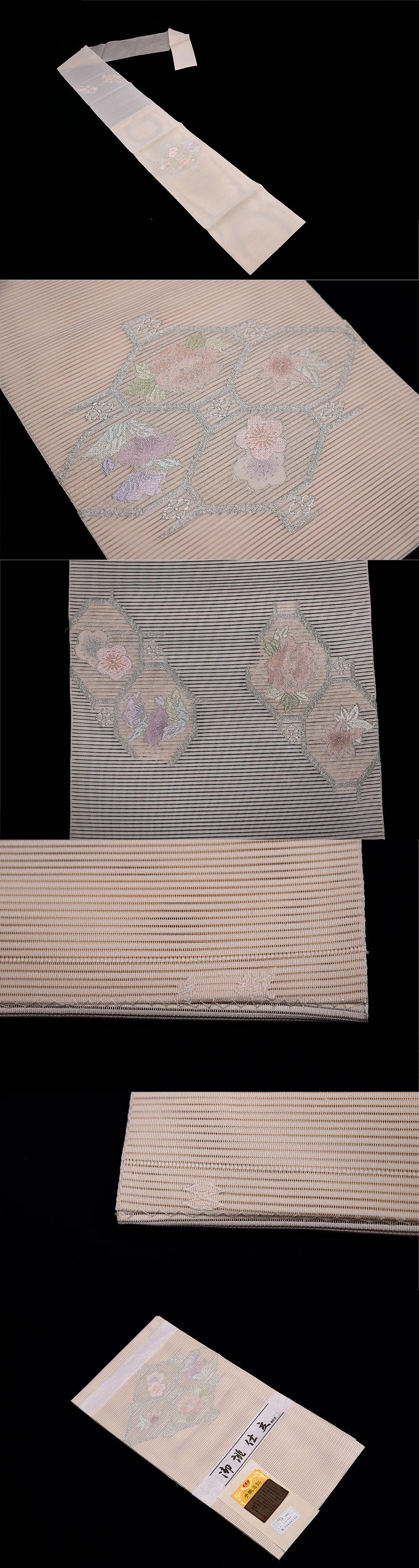 夏帯 西陣 河村織物 絽つづれ 名古屋帯