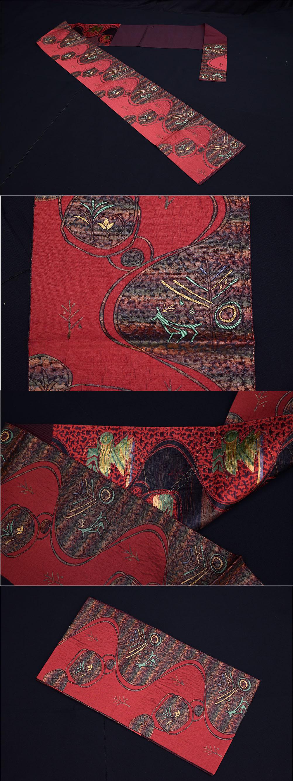 描象柄 博多織り 名古屋帯