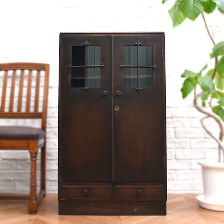 大正レトロ 古い木製本棚