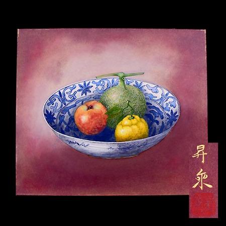 五十川昇乗画 彩色静物画