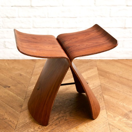 天童木工 Tendo / Japan バタフライスツール ローズウッド ヴィンテージ品