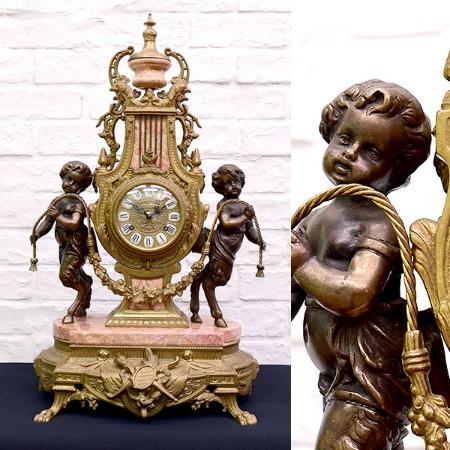 HERMLE 真鍮大理石置時計