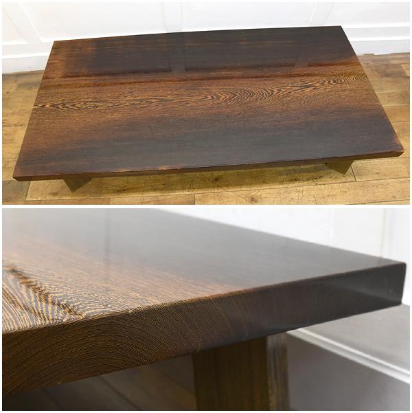 #26970 鉄刀木 一枚板 座卓 コンディション画像 - 2