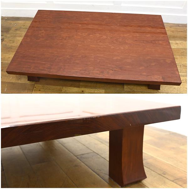 #26154 ブビンガ 極厚一枚板 テーブル コンディション画像 - 2