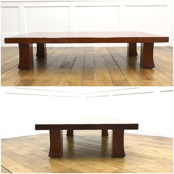 #26154 ブビンガ 極厚一枚板 テーブル コンディション画像 - 3