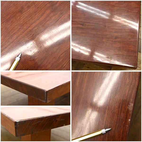 #26154 ブビンガ 極厚一枚板 テーブル コンディション画像 - 4