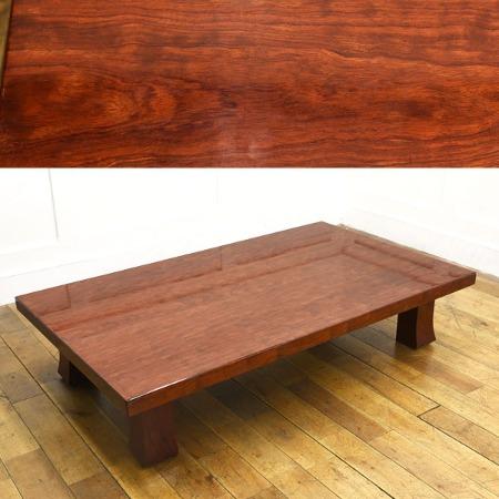 ブビンガ 極厚一枚板 テーブル