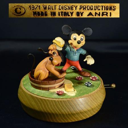 REUGE×ANRI Disneyオルゴール ミッキー&プルート