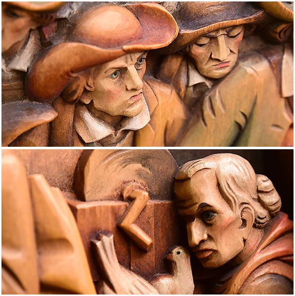 ANRI [ FRANZ von DEFREGGER 1835-1921 ] 木彫り額装