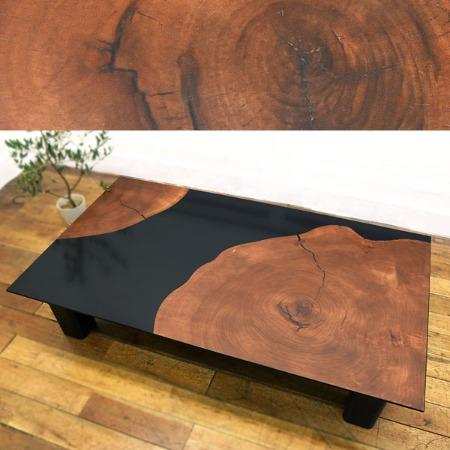 松岡漆工 大楠輪切りテーブル