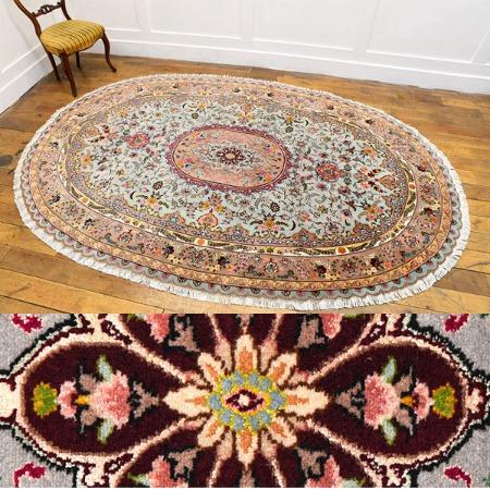Tabriz オーバル型ペルシャ絨毯