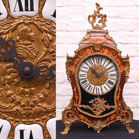 木象嵌 イタリア製 置き時計