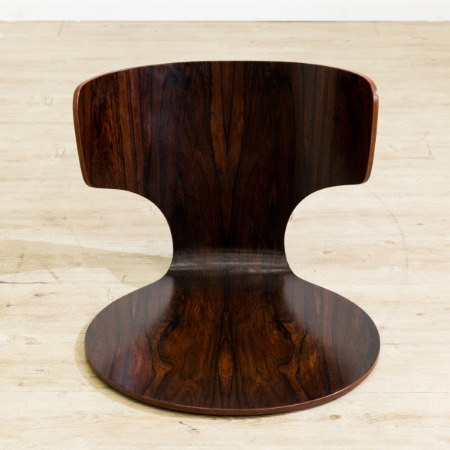 剣持勇デザイン ブラジリアンローズウッド座椅子1脚