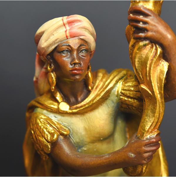 ANRI 燭台木彫り人形 2点
