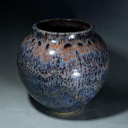 木村盛康 天目釉花瓶