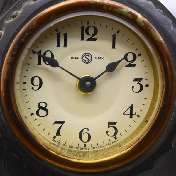 アールデコ 孔雀型 精工舎 置時計