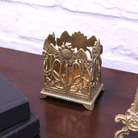 アールヌーボー様式 真鍮製ペン立て