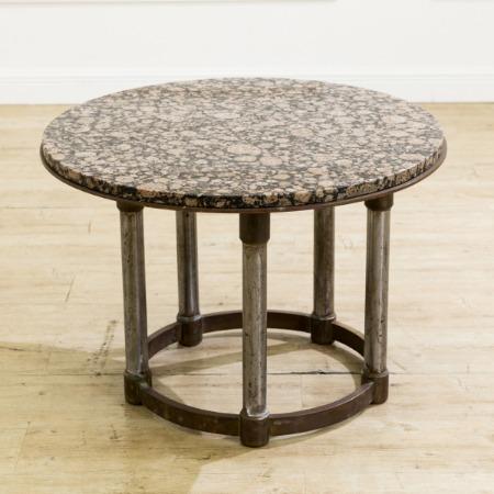 USAヴィンテージ 大理石×金属脚テーブル