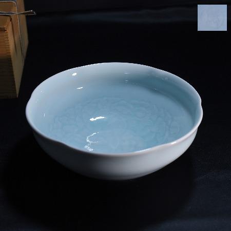 塚本快示 青白磁菓子鉢
